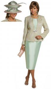 donna-vinci-5626-three-piece-skirt-suit-mint-with-pink