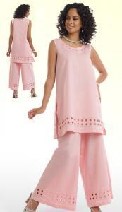 lisa-rene-3317-pk-linen-blend-ladies-suit-with-eyelet-details-on-tunic-and-wid-leg-pant-pink