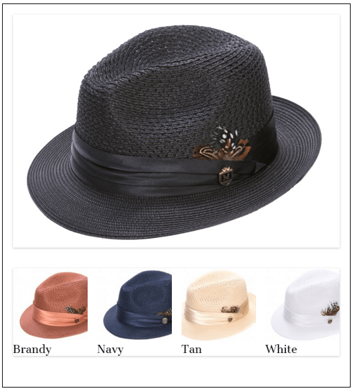 Montique Hat H 24 Men Hat Back, Abby Fashions