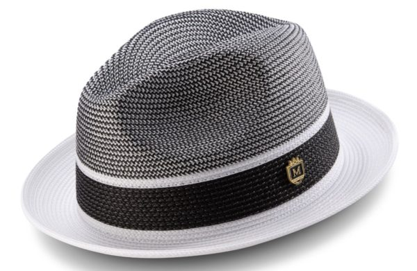 Montique H 22 Straw Hat White Black 1 1 600x391, Abby Fashions