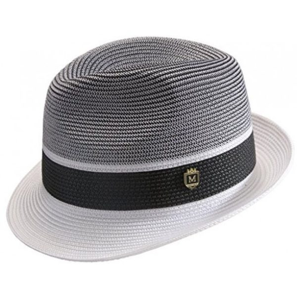Montique H 22 Straw Hat White Black B 600x600, Abby Fashions