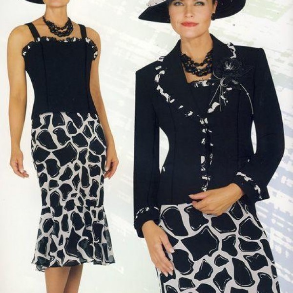 Chancelle 11941 Black White 600x600 600x600, Abby Fashions