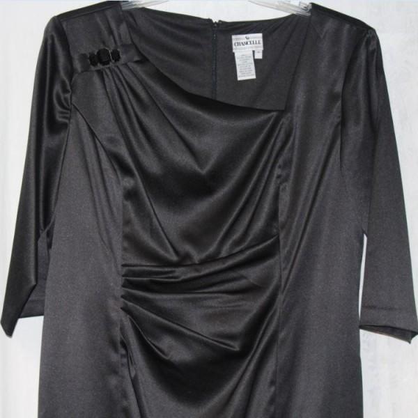 Chancelle Black Dress 17217 Black 600x600 600x600, Abby Fashions