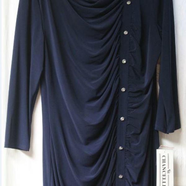 Chancelle Dresses 17215 Ladies Church Dresses Navy Abby Fashions