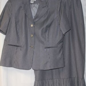 Chancelle Suit 17222 Grey with Silver – Womens Church Suits
