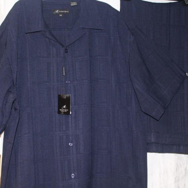 Walking Suits Montique 627 Navy Short Sleeve Set 600x600 600x600, Abby Fashions