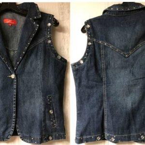 Bonda Capri and Jacket Set Blue Denim Jeans Juniors