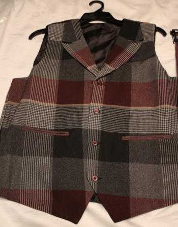 Montique V 137 Mens Vest Sets Burgundy Top E1506653687966, Abby Fashions