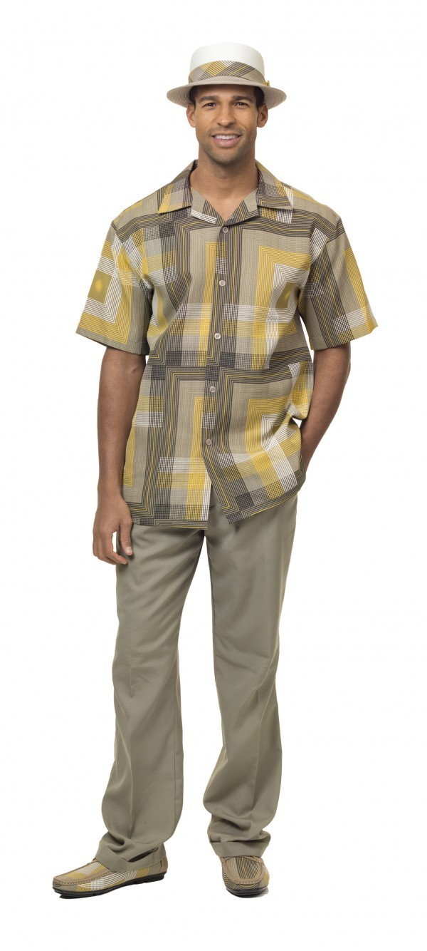 Montique-1834-gold-mens-walking-suit-mens-2pc-leisure-suits-short-sleeve