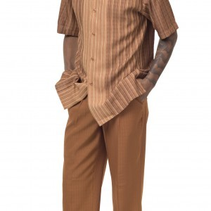 Montique 1846 Walking Suit Caramel – Mens Two Piece Leisure Suits
