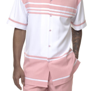 Montique 1878 Walking Suit Blush – Mens Two Piece Leisure Suits