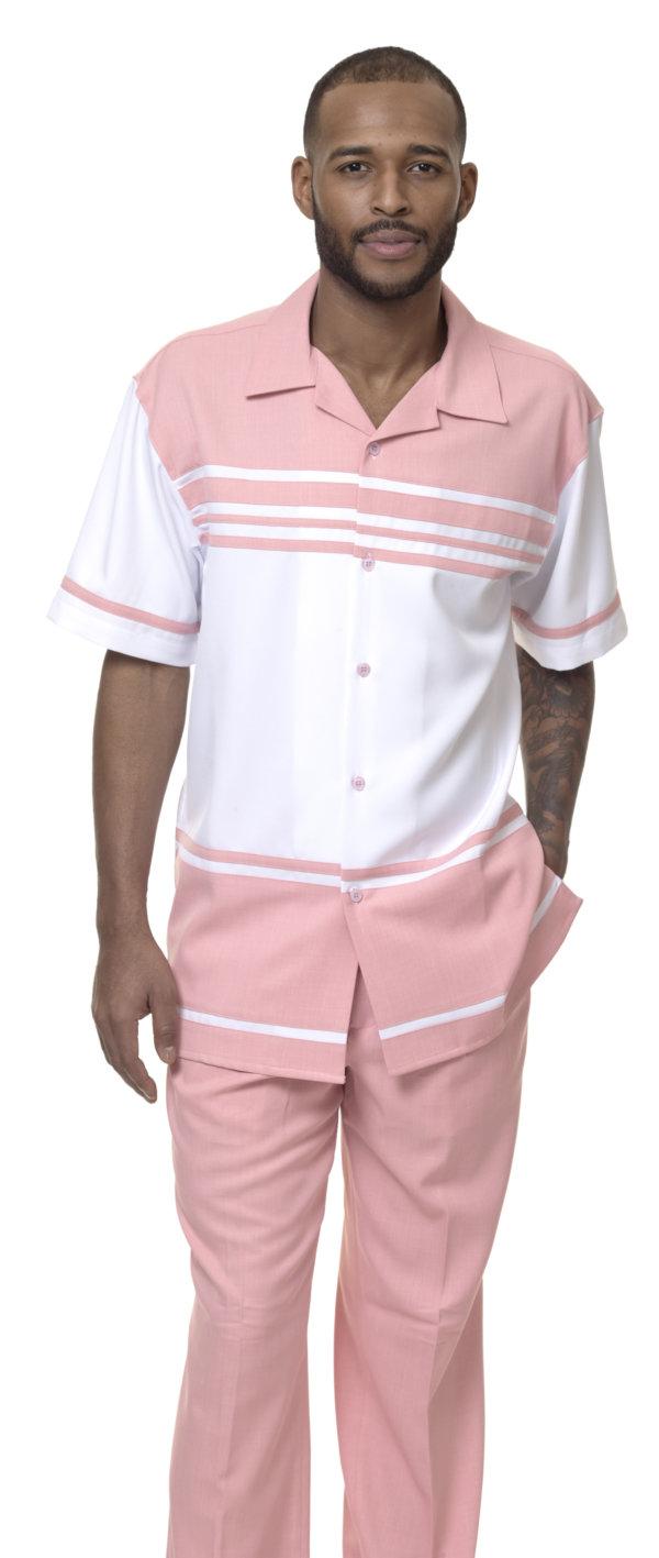 Montique-1878-blush-mens-walking-suit-mens-2pc-leisure-suits-short-sleeve
