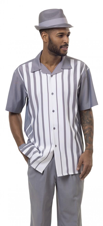 Montique 1896 Grey Mens Walking Suit Mens 2pc Leisure Suits Short Sleeve 600x1315, Abby Fashions