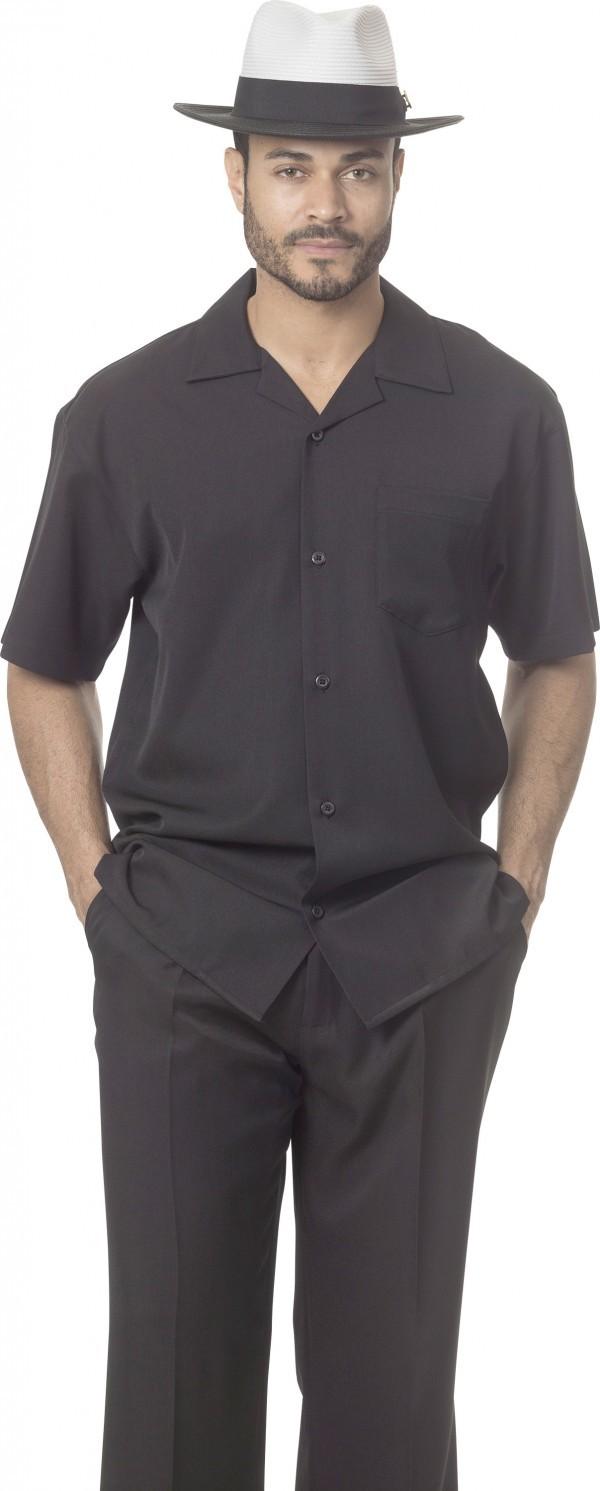 Montique-696-black-mens-walking-suit-mens-2pc-leisure-suits-short-sleeve