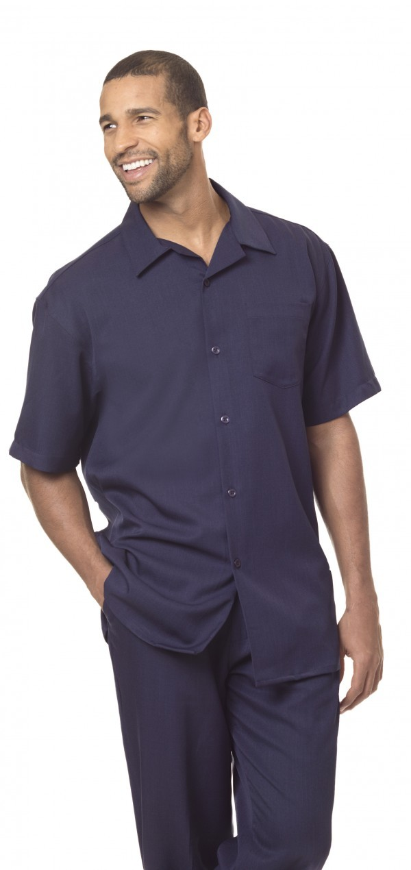 Montique 696 Navy Mens Walking Suit Mens 2pc Leisure Suits Short Sleeve 600x1270, Abby Fashions