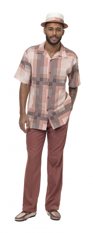 Montique-1834-cinnamon-mens-walking-suit-mens-2pc-leisure-suits-short-sleeve