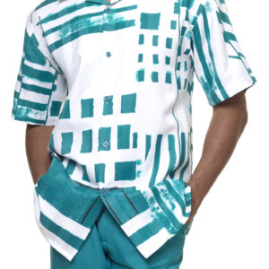 Montique 1839 Walking Suits Emerald – Mens Two Piece Leisure Suits