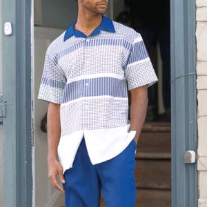 Montique 1840 Walking Suits Sapphire  – Mens Two Piece Leisure Suits