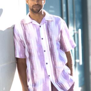 Montique 1844 Walking Suits Lavender – Mens Two Piece Leisure Suits