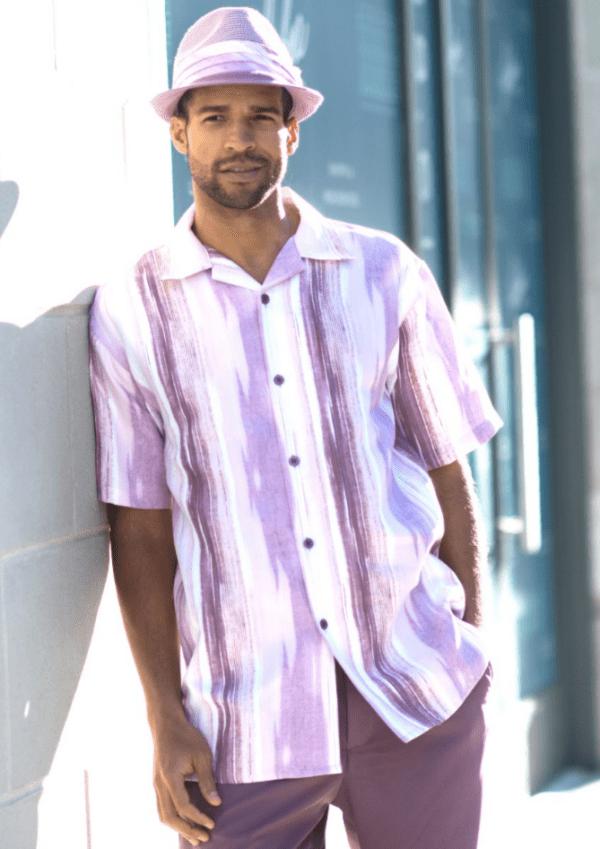 Montique 1844 Lavender Walking Suit Olive Mens Leisure Suits Short Sleeve 600x849, Abby Fashions