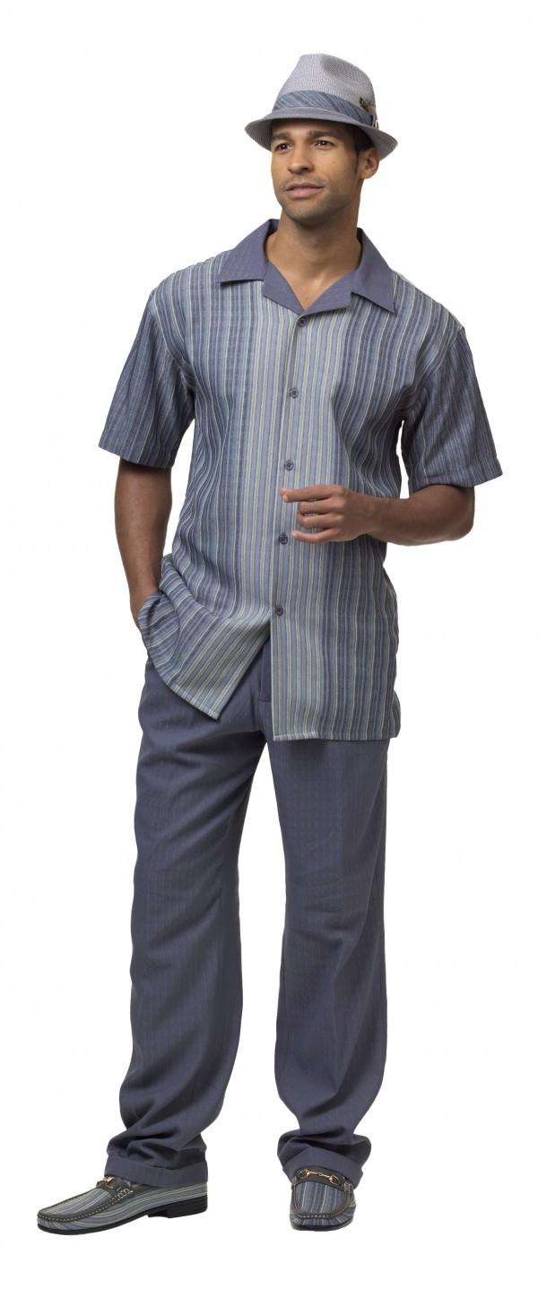 Montique-1846-grey-mens-walking-suit-mens-2pc-leisure-suits-short-sleeve