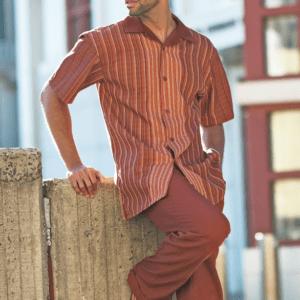 Montique 1846 Walking Suit Cognac – Mens Two Piece Leisure Suits