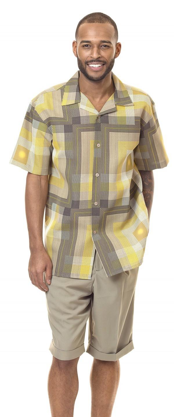 Montique-7834-mens-walking-suit-Gold-mens-2pc-leisure-suits-short-sets