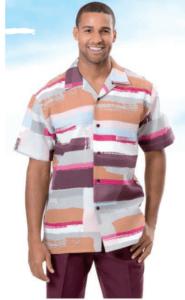 mens-walking-suits-montique-631-burgundy-short-sleeve