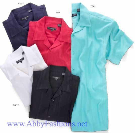 Monologue Men Shirts 4733 Black Shirts Short Sleeve, Abby Fashions