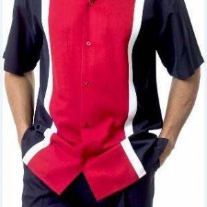 Montique 1732 Walking Suit Navy-Red – Mens Leisure Suits