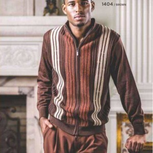 Montique 1404 Mens Sweater Sets Brown – SALE