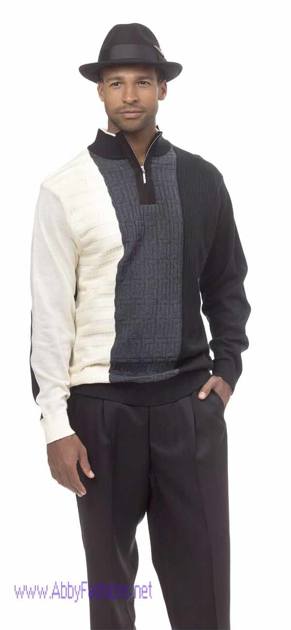 montique-dressy-mens-sweater-and-pants-two-piece-set-1601-black