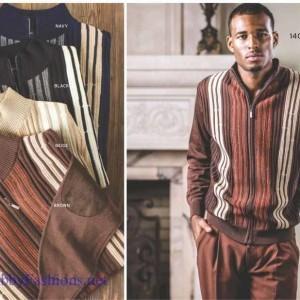 Montique 1404 Mens Sweater Sets BLACK – SALE