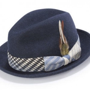 Montique H-1717 Fedora Matching Hat Navy
