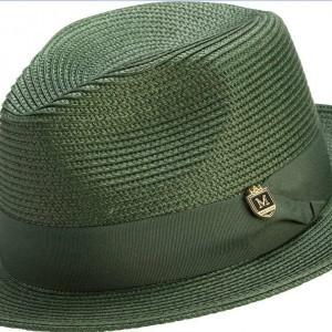 Montique H-42 Mens Straw Fedora Hat Hunter