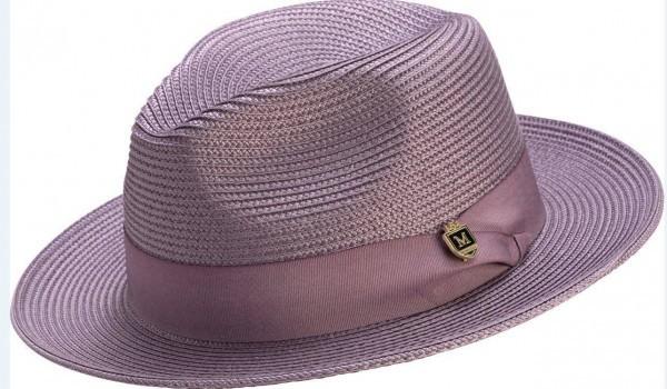 Montique H 42 Mens Straw Fedora Hat Lavender 600x350, Abby Fashions