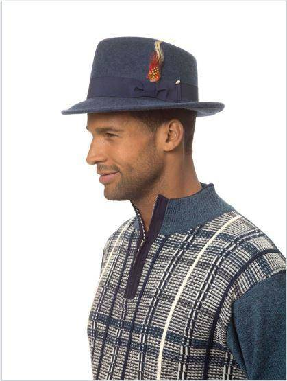 Montique Hat H 11 Navy Men Hat Full, Abby Fashions