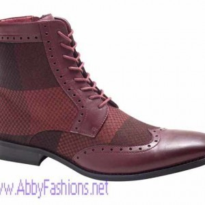 Montique S-1628 Men's Shoes Matching Boots Burgundy