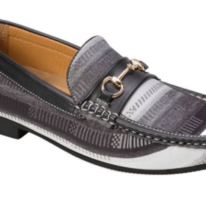 MontiqueS-645 Men's Penny Loafer with Metal Bit Matching Shoes Black