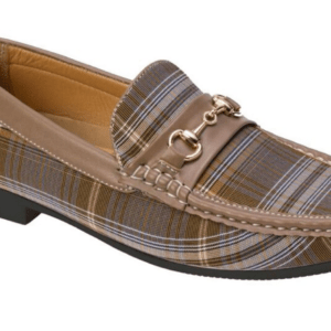MontiqueS-697 Men's Penny Loafer with Metal Bit Matching Shoes Olive