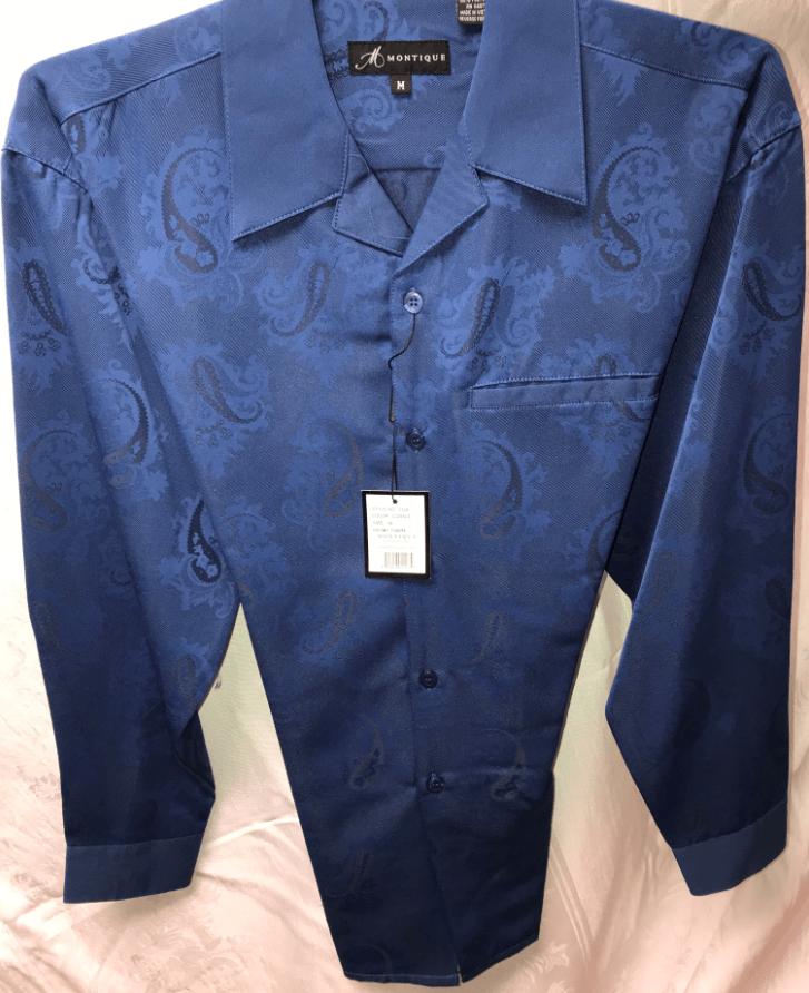 Montique 1124 Mens Walking Suit Cobalt