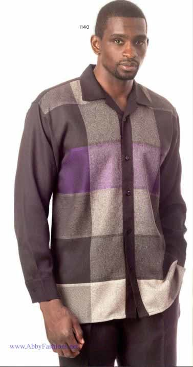 Montique Mens Walking Suits 1140 Purple Long Sleeve, Abby Fashions