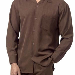 Montique 1641 Walking Suit Brown – Mens Leisure Suits