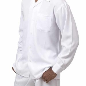 Montique 1641 Walking Suit White – Mens Leisure Suits
