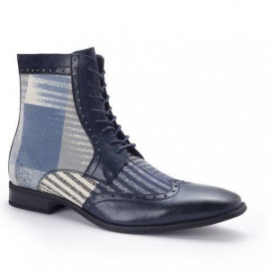 Montique S-1717 Men's Shoes Matching Boots Blue