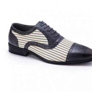 Montique S-1753 Mens Shoes Black-Cream – Men's Matching Shoes