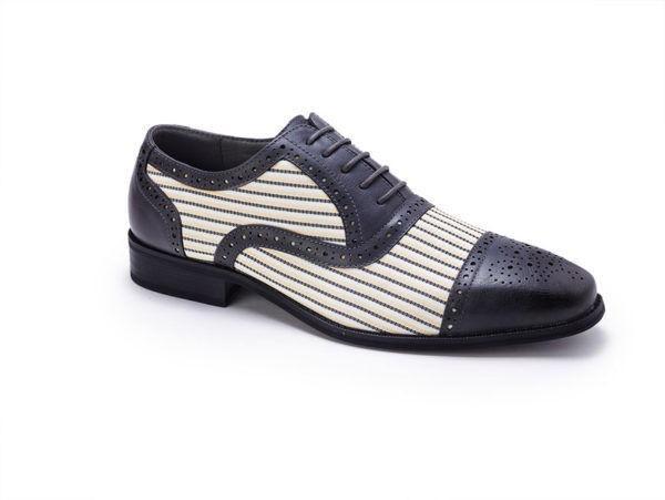 Montique S 1753 Mens Matching Shoes Black Cream E1506654143530 600x451, Abby Fashions