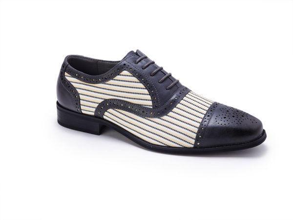 Montique S-1753 Mens Shoes Black-Cream