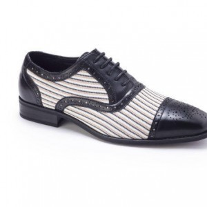 Montique S-1753 Mens Shoes – Men's Matching Shoes – Black-White