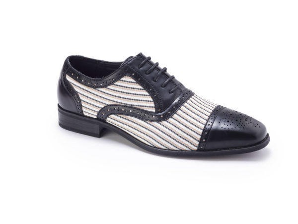 Montique S 1753 Mens Matching Shoes Black White E1506654116787 600x451, Abby Fashions